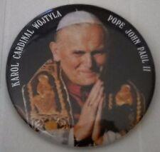"KAROL CARDINAL WOJTYLA POPE JOHN PAUL II PINBACK 2"" BUTTON"