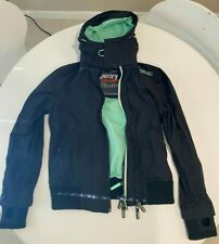 Imported SUPERDRY Youth's Windbomber Jacket Size M Black and Green