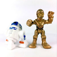 2Pcs Star Wars Playskool Galactic Heroes C3PO Foot Droid & R2-D2 figure toy MBJD