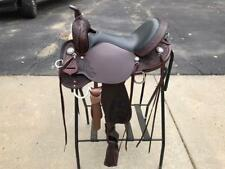 """NEW Circle Y 16"""" High Horse Mesquite Leather Trail Saddle"""