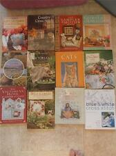 Superb Collection 12 Books Cross Stitch Designs Embroidery Samplers Textiles VGC