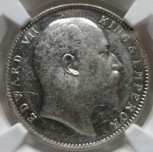 INDIA British silver 1 rupee 1905 (B) Bombay NGC AU 58 UNC