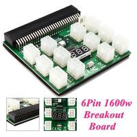 1600w PCI-E 6Pin 12V Breakout Board For Ethereum PSU GPU Mining Power Supply