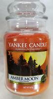 Yankee Candle AMBER MOON Large Jar 22 Oz Orange Housewarmer New Wax