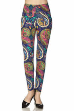 Leggings TC/106 Buttery Soft Always Brushed Blue Paisley ONE SIZE