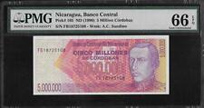 Nicaragua P-165 5,000,000 Cordobas 1990 PMG 66 EPQ