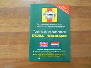 HAYNES TECHNISCH WOORDENBOEK ENGELS NEDERLANDS 24 PAGINA'S HAYNES