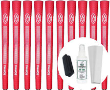 Avon Chamois Red Standard Size Golf Grips Set of 10 w/ Grip Kit - New
