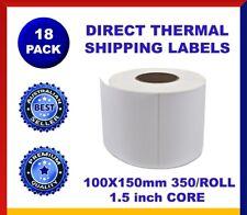 18x Thermal Direct 4x6 Labels Roll 100 X 150mm Fastway EParcel Startrack Zebra