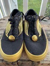 Vans Harry Potter Golden Snitch Black Gold Shoes US Men's Sz 6 Women's Sz 7.5