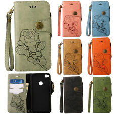 Retro Magnetic Flip Patterned Strap PU Leather Wallet Stand TPU Case Lot Cover 1