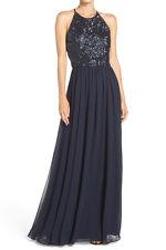 Vera Wang New Cutout Back Sequin & Chiffon Gown Size 6 MSRP $348 #HN 398