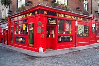 Large 8x12 Photo-The Temple Bar-Dublin, Ireland-World Famous -Medieval Ambiance