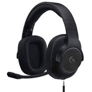 Logitech G433 DTS 7.1 Surround Sound 3.5mm Wired Gaming Headset (Black) i