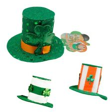 10pc Lot St. Patrick's Day Hair Clip Lucky Leprechauns Irish Fascinator Top Hat