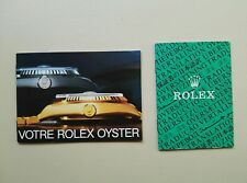 ACCESSORI ROLEX BOOKLET VOTRE ROLEX OYSTER ANNO 1986 FR BOOKLET TRANSLATION