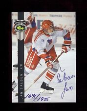 JAN CALOUN 1992 Hockey Certified #'d AUTOGRAPH Rookie Card 1291/1975