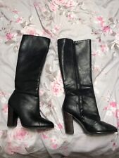 Next Black Leather Knee High Boots UK8 EU42