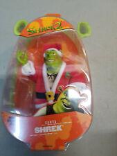 Shrek 2 - Santa Shrek Figures 2004 Hasbro New Carded