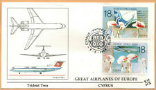Fdc 1°Jour-Chypre-Europa C.E.P.T-Trident Two-Aviation-Timbre.Yv..693/4