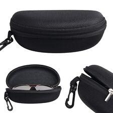 Portable Zipper Sunglasses Box Case Eye Glasses Clam Shell Protector Hard Pouch
