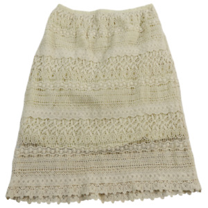 Solitaire Cream Lace Skirt Women's Size Small