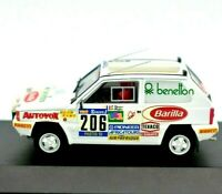 Model Car Fiat Panda Rally Scale 1/43 diecast modellcar Brumm Rallye 1984