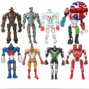 Real Steel Zeus Atom Midas Noisey Boys Robot 8 PCS Action Figures Kids Toys Gift
