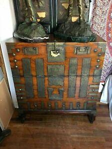 Rare 19th Century Korean Tansu BanDanJi BaekTong Blanket Chest Chinese