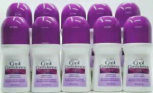 Avon COOL CONFIDENCE Original Scent Roll-on Deodorant 2.6 fl.oz LOT of 10