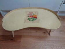 More details for vintage shabby chic folding kidney shaped breakfast tray / table