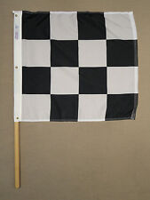 Black & White Printed Checkered Racing Indoor Outdoor Nylon Outdoor Flag 2'X2'