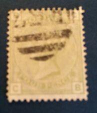Grande Bretagne N° 59 4 p Vert Olive Oblitéré ( Une Dent Pliée En Haut  Cote 250