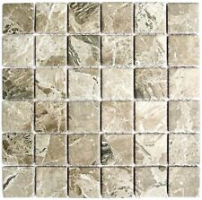 Mosaik Steinoptik sandbraun Fliesenspiegel Küche Bad Art: 16-aISO89 | 10 Matten