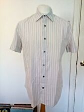 Paul Smith Short Sleeve Striped Shirt Size Large Authentic
