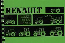 Renault 80-12 TX & 80-14 TX Tractor Operator Instruction Manual Book