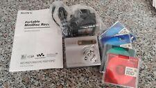 Sony portable minidisc recorder / player 2001 with discs