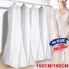 White Gown Garment Storage Bag Wedding Dress Bridal Protector Dustproof Cover