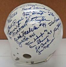 Notre Dame Signed Full Size Practice Helmet Signed by 18 Notre Dame Legends