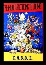 THE WORLD ACCORDING TO CRUMB, 1992, CNBDI, ROBERT CRUMB, UNDERGROUND PAPERBACK.