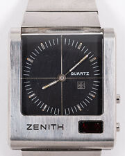 Original Vintage Zenith Futur Time Command Ana-Digi Quartz LED Watch! Runs!