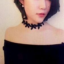 Women Ladies Elegant Flower Lace Charm Pearl Choker Necklace Fashion Jewelry