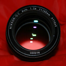 Excellent Nikon/Nikkor 135mm 2.8 fixed prime non Ai lens w/ both end caps