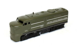 Rare Postwar Lionel 221 Olive Drab USMC Alco Diesel Locomotive~Nice Original!
