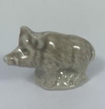 New ListingWade of England Boat Hog Pig Red Rose Tea Miniature Figurines Whimsies