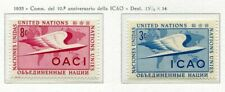 19012) UNITED NATIONS (New York) 1955 MNH** Nuovi** ICAO -
