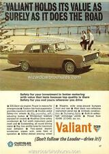 1967 CHRYSLER VALIANT VC SEDAN A3 POSTER AD SALES BROCHURE ADVERTISEMENT ADVERT