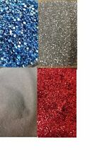 4 x Chunky glitter colour 100 grams refill blue white red silver Christmas