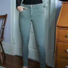 Rewind Women's Army Green Stretch Jeans (Size 5/27w) with flexible waistband