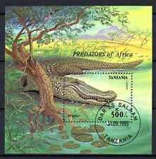 Animaux Crocodile Tanzanie (44) bloc oblitéré